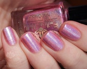 "Nail polish - ""Poser"" Light pink linear holographic polish"