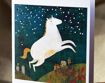 Horse card // greeting card // cute horse illustration