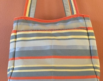 Beth #16  Striped Project Bag, Knitting, Knitting Bag, Self Standing Knitting Bag, Yarn, Yarn Bag, Project Bag, Knitting and Crocheting,Gift