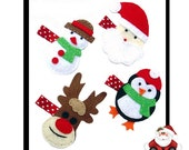 Santa and Helpers Christmas Hair clips no slip grip available