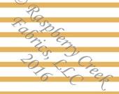 Mustard Yellow and White Stripe 4 Way Stretch Jersey Knit Fabric, Club Fabrics
