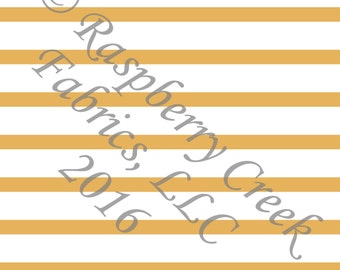 Mustard Yellow and White Stripe 4 Way Stretch Jersey Knit Fabric, Club Fabrics