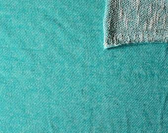 Jade Green Textured Light Weight French Terry Knit Sweatshirt Fabric, 1 Yard