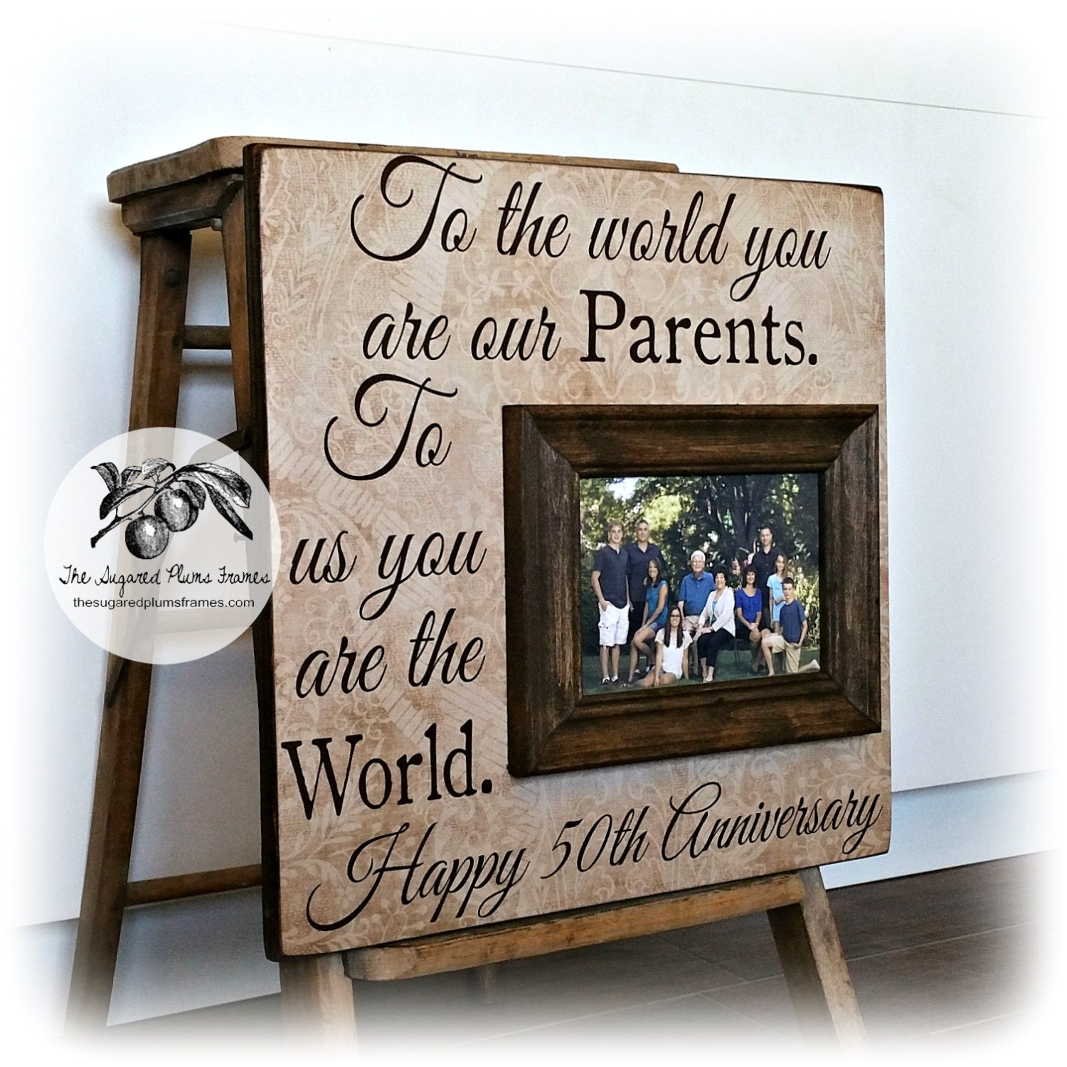 Gift For Wedding Anniversary Of Parents: 50th Anniversary Gifts Parents Anniversary Gift Golden