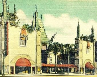 Vintage Hollywood Art, California Art Deco Art Vintage Los Angeles Art downtown Los Angeles Art Deco Decor, Old Hollywood Art