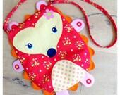 DIY Kids Bag, Purse, Fabric Panel, Wildflower Meadow Headhog bag by Riley Blake