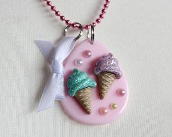 Pastel Ice Cream Cute Necklace