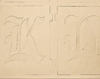 Large Letter Stencils, Old English, Manila Paper