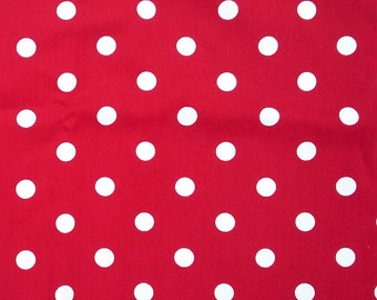 Dark Red polka Dot Bandana, Red Polka Dot headscarf, Roller Derby Bandana, Retro Bandana, Rosie the Riveter Scarf