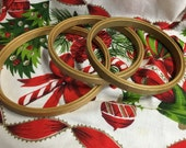 Antique Wooden Embroidery Hoop Lot of 3 Duchess Princess