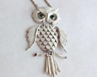 Snowy Owl Vintage Necklace