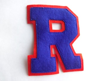 "4 1/4"" R Patch from 1950s Letterman Sweater"