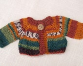 Waldorf Doll Clothes -Hand knitted Sweater , fit 9 - 10 inch dolls