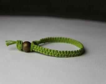 Lime Green Hemp Bracelet