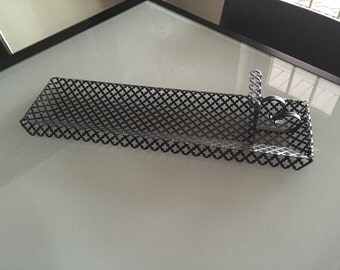 Candle Holder/ Wall Hanging/ Punched Metal c.1960s By Gatormom13 JUST REDUCED