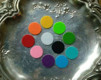 Nine Felt Pad Refills - Aromatherapy Diffuser Replacements for Essential Oils Locket