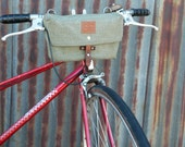 Vintage Swiss Army Map Handlebar Bag