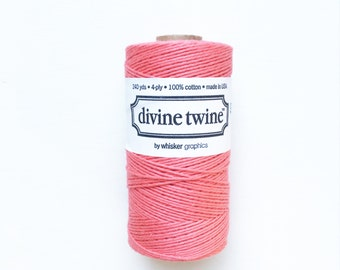 Solid Coral Twine (240 yards) 1 Spool