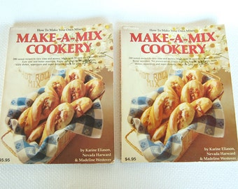 Vintage HP Books Make A Mix Cookery Master Mix Cookbooks circa 1978 and 1980 CB347