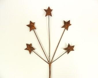"""6 Rusty Stars Floral 9"""" Picks"""