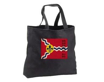 Tote Bag - St Louis Flag - Canvas Tote - Book Bag - St Louis
