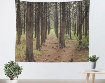 Forest Tapestry - Tapestry - Wall Hanging - Nature Tapestry - Forest Green - Tree Tapestry - Wall Tapestry - Gothic Tapestry - Geometric