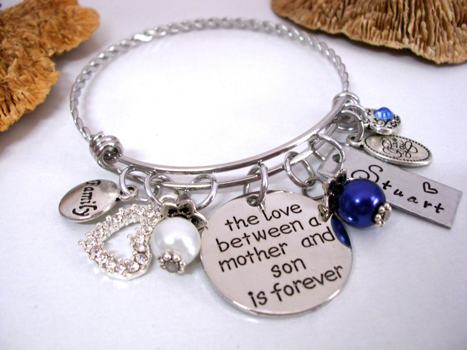 Mother and Son Jewelry, Mother Son Bracelet, Personalized Mother ...