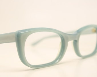 NOS Light Blue Cat Eye Glasses Unused vintage cateye frames eyeglasses NOS