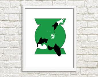 Green Lantern Minimalist Print