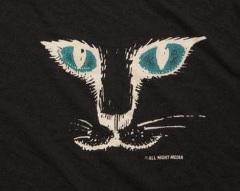 vintage cat face t shirt