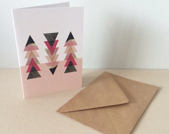 Blank A6 Greeting Card - 'Candy' Design.