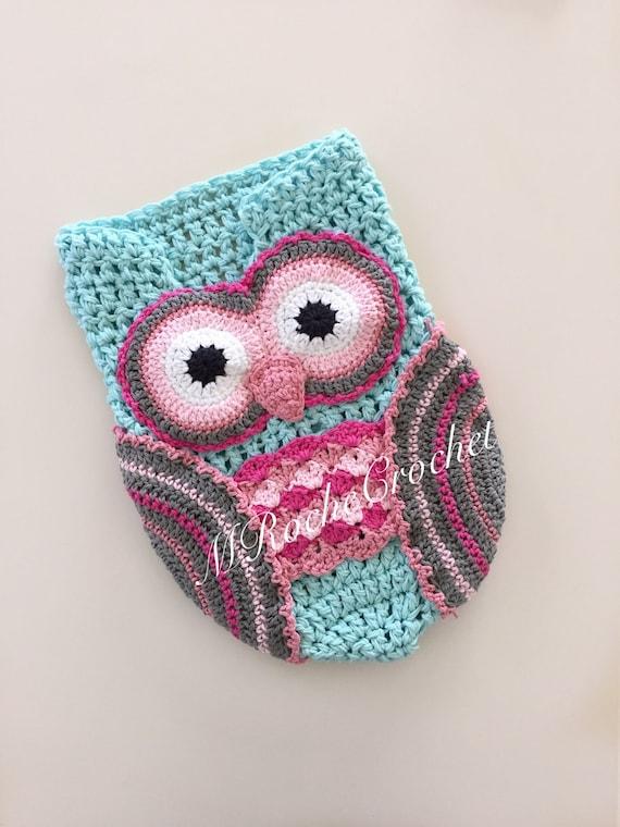 Crochet Owl Cocoon : Owl photo prop, owl cocoon, crochet cocoon, newborn photo prop ...