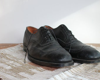 Frank Brothers Black Full Brogue Oxfords // Size 12 or 13