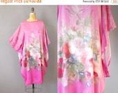 30%OFF Silk Tunic / Still Life Caftan / Floral Silk Dress