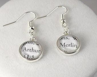King Arthur & Merlin Earrings // Famous Pairs Literary Jewelry