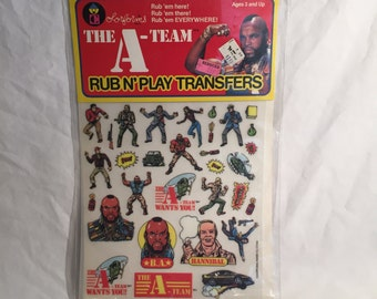Vintage 1983 Colorforms~The A-Team~Rub N' Play Transfers Toy~Still Sealed~Dime Store Rack Toy~Free Shipping~L@@K