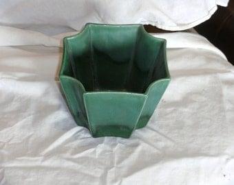Vintage Green Haeger Planter