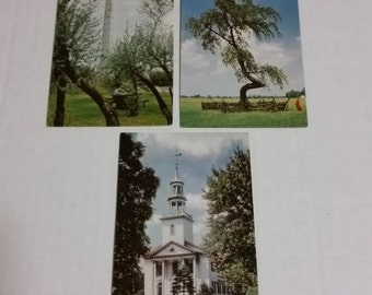 3 Let's Explore Ohio postcards, vintage cards, Standard Oil Sohio