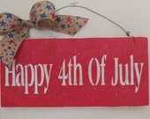 Wooden Americana Sign - Wooden Sign - Happy Fourth of July Sign