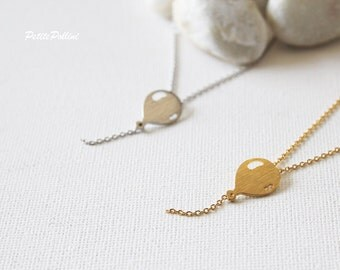 Balloon Necklace in Silver/ Gold. Collar Necklace. Sky. Cute and Sweet. Gift for Girls. Birthday Gift (PNL-143)