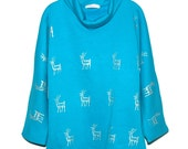 Turquoise Stag Jumper