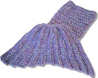 Crochet Mermaid Blanket Afghan Toddler - Preschool - Small Child *READY TO SHIP*