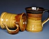 His and Her Coffee Mug Pottery Mug Ceramic Coffee Mug D