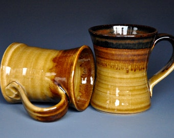 His and Her Coffee Mug Pottery Mug Ceramic Coffee Mug D
