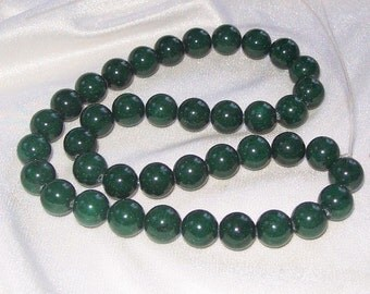 "40 pc * 16"" strand * Mountain Jade GREEN Beads * 10mm * Mt Jade"