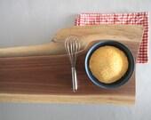 Rustic Polenta Board // Hard Wood // North Eastern Black Walnut // Serving Tray // Large Footed Platte