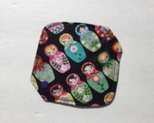 """Cloth Panty Liner All In One Cotton Fleece 6.5"""" Russian Dolls"""