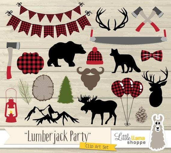 Lumberjack Party Clip Art Lumberjack Plaid Clipart