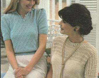 "Vintage Brunswick ""Picnic Summer Sweaters"" Leaflet Knitting and Crochet Leaflet"