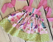 Girls Reverse Knot Dress in Love Birds Collection by Boutique Elli'Ette Toddler Infant Girls